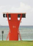 T1 de la torre del salvavidas Imágenes de archivo libres de regalías