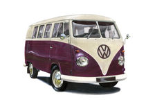 T1 di VW Campervan Immagini Stock