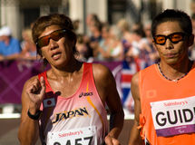 T11 (blind) Marathon Stock Photo