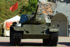 T34. Tank on display, Brest fortress, Belarus Stock Images