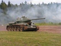 T34 na ação Imagem de Stock Royalty Free