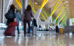 T4 terminal, in the Barajas airport, Madrid. stock photo