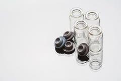 Taça de vidro no fundo branco Foto de Stock