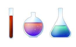 Taças do vidro do laboratório Imagem de Stock