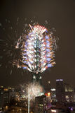 Taïpeh 2010 101 feux d'artifice Images stock