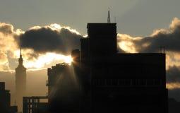 Taïpeh 101 au lever de soleil Photos stock