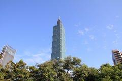 Taïpeh 101, bâtiment ayant beaucoup d'étages à Taïpeh, Taïwan, ROC Image libre de droits