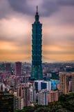 Taïpeh 101 dans HDR, Taïwan Photo libre de droits