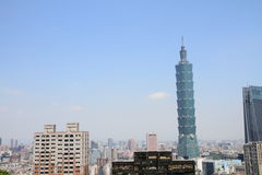Taïpeh 101 de montagne de Xiang à Taïpeh, Taïwan, ROC Photographie stock