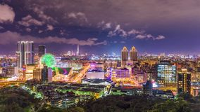 Taïpeh, paysage urbain de Taïwan banque de vidéos