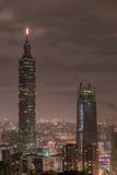 TAÏPEH, TAÏWAN - 29 NOVEMBRE 2016 : Taïpeh, Taïwan Panorama du Monaco Horizon Paysage urbain Place financière i du monde de Taïpe Photo libre de droits