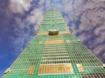 Taïpeh, Taïwan - 22 novembre 2015 : Tour de Taïpeh 101, vue de Photographie stock libre de droits