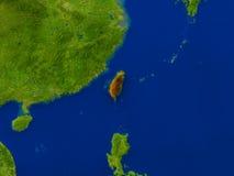 Taïwan de l'espace en rouge Photographie stock