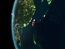 Taïwan de l'espace la nuit Photo libre de droits