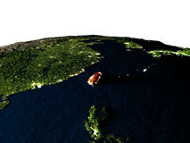 Taïwan de l'espace la nuit Photos libres de droits