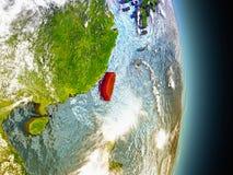 Taïwan en rouge de l'espace Images stock