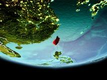 Taïwan en rouge le soir Images libres de droits