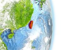 Taïwan en rouge sur terre Image libre de droits