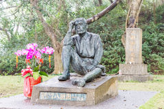 TAÏWAN - 15 janvier 2016 : Yoichi Hatta Statue au barrage de Wushantou un fa Image stock