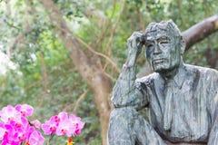 TAÏWAN - 15 janvier 2016 : Yoichi Hatta Statue au barrage de Wushantou un fa Image libre de droits