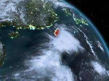 Taïwan la nuit d'orbite Photographie stock
