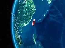 Taïwan sur terre la nuit Images stock