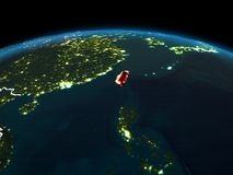 Taïwan sur terre la nuit Photos stock