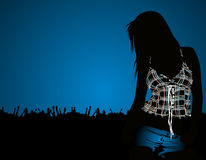 tańcząca dziewczyna Fotografia Royalty Free