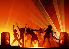 tańczące światła dyskotek ludzi Fotografia Stock