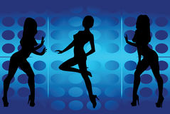 tańczące dziewczyny ilustracja wektor