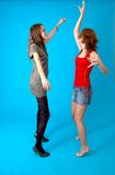 tańczące dziewczyny nastoletnie Zdjęcie Royalty Free