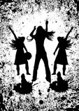 tańczące imprezowicze Obrazy Stock