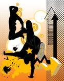 tańczące ludzi młodych Obrazy Royalty Free