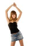 tańczące młode piękności Zdjęcia Royalty Free