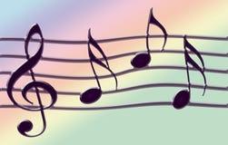 tańczące muzykalne uwagi Zdjęcia Stock