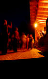 tańczące nocy ludzi Zdjęcie Royalty Free