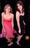 tańczące stroną nastolatki Fotografia Royalty Free