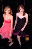 tańczące stroną nastolatki Obraz Royalty Free
