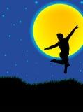 tańczący księżyca ilustracja wektor