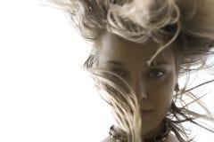 tańczący włosy Obrazy Royalty Free