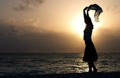 tańczący z ciemności Obraz Royalty Free