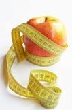 taśmy jabłczana miara Zdjęcie Royalty Free
