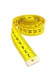 taśmy pomiarowy kolor żółty Fotografia Stock