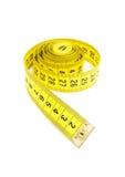 taśmy pomiarowy kolor żółty Obrazy Stock