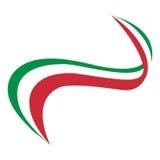 Taśmy Włochy flaga ilustracja wektor