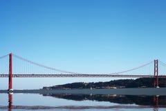 25ta April Bridge, Lisboa, Portugal Fotografía de archivo libre de regalías
