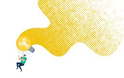 Ta av med inspirerande idévektorbegrepp stock illustrationer