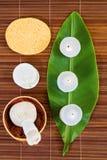 tła bambusowych rzeczy storczykowa palmowa zdroju kamieni woda Zdjęcie Royalty Free