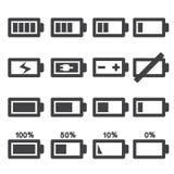 tła bateryjnej ikony odosobniony biel Obrazy Stock