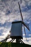 Ta bilder på en väderkvarn i Bruges, Belgien Royaltyfria Foton